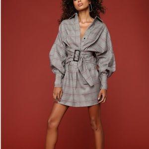 Fashion nova pretty & plaid dress NWT